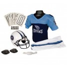 Franklin Tennessee Titans DELUXE Youth Helmet and Football Uniform Set (Medium)