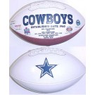 Dallas Cowboys Limited Edition Embroidered Signature Series Football from Fotoball