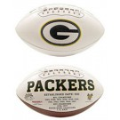 Green Bay Packers Limited Edition Embroidered Signature Series Football from Fotoball
