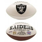 Oakland Raiders Limited Edition Embroidered Signature Series Football from Fotoball