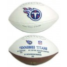 Tennessee Titans Limited Edition Embroidered Signature Series Football from Fotoball