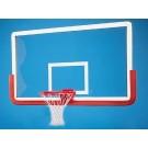 "Outer Limit Pro 42"" x 72"" Rectangular Glass Basketball Backboard WITHOUT Center Strut Reinforcer"