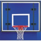 "42"" x 54"" Rectangular Steel Frame Glass Conversion Basketball Backboard with Adapter Kit"