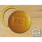 """6 1/4"""" Outside, 5"""" Inside Diameter Swivel Chrome Cover Plate"""