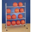 4 Tier Basketball Ball Rack (16 Ball Capacity)