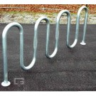 "7' 3"" Loop-Style Powder Coated Bike Rack (Holds 9 Bikes)"