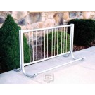 10' Modern Single-Sided Bike Rack (Holds 9 Bikes)