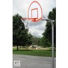 "4 1/2"" O.D. Braced Rear Mount Gooseneck Post with 4' Extension, Basketball Backboard... by"