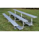 15' Fixed / Stationary Bleachers with Double Foot Planks (3 Row)