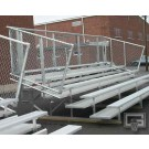 15' Fixed / Stationary Bleachers with Double Foot Planks (5 Row)