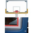 "42"" x 72"" Regulation Glass Basketball Backboard with Steel Frame and Perimeter LED Light System"