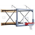 """Four-Point Wall Mount Basketball System with 42"""" x 72"""" Glass Backboard and 9-12'... by"""