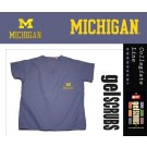 Michigan Wolverines Scrub Style Top from GelScrubs