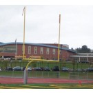 8' OS 20' High School Football Goal Posts with Base Plates - 1 Pair