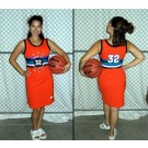 Brick-City Ladies' Streetball All Stars Jersey Dress (Orange X-Large)