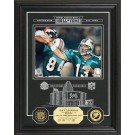 "Dan Marino Hall of Fame Archival Etched Glass 6"" x 9"" Framed Photograph and... by"