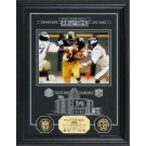 """Franco Harris Hall of Fame Archival Etched Glass 6"""" x 9"""" Framed Photograph and... by"""