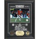 "John Elway Hall of Fame Archival Etched Glass 6"" x 9"" Framed Photograph and Medallion Set"