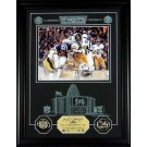 """Jack Lambert Hall of Fame Archival Etched Glass 6"""" x 9"""" Framed Photograph and Medallion Set"""