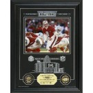 """Steve Young Hall of Fame Archival Etched Glass 6"""" x 9"""" Framed Photograph and Medallion Set"""