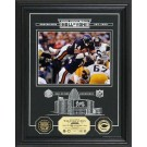 """Walter Payton Hall of Fame Archival Etched Glass 6"""" x 9"""" Framed Photograph and Medallion Set"""