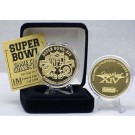 24KT Gold Super Bowl XIV Flip Coin from The Highland Mint