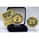 24KT Gold Super Bowl XV Flip Coin from The Highland Mint