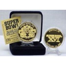 24KT Gold Super Bowl XVI Flip Coin from The Highland Mint
