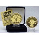 24KT Gold Super Bowl XX Flip Coin from The Highland Mint