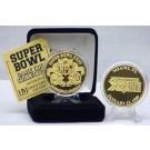 24KT Gold Super Bowl XXIII Flip Coin from The Highland Mint