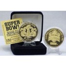 24KT Gold Super Bowl XXVII Flip Coin from The Highland Mint