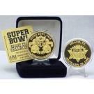 24KT Gold Super Bowl XXIX Flip Coin from The Highland Mint