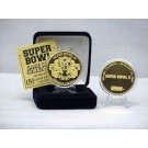 24KT Gold Super Bowl II Flip Coin from The Highland Mint