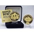 24KT Gold Super Bowl XXXV Flip Coin from The Highland Mint