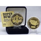24KT Gold Super Bowl XXXVI Flip Coin from The Highland Mint