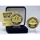 24KT Gold Super Bowl XXXVII Flip Coin from The Highland Mint