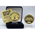 24KT Gold Super Bowl IV Flip Coin from The Highland Mint