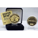 24KT Gold Super Bowl VI Flip Coin from The Highland Mint