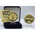 24KT Gold Super Bowl VIII Flip Coin from The Highland Mint