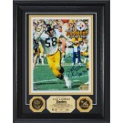 """Jack Lambert Autographed 8"""" x 10"""" Framed Photograph and Medallion Set from The Highland Mint"""
