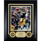 """Terry Bradshaw Autographed Framed 8"""" x 10"""" Photograph and Medallion Set from The... by"""