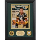 "Brett Favre Autographed ""2007 Sportsman of the Year"" Sports Illustrated Framed... by"