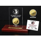 Florida State Seminoles 24KT Gold Coin in an Etched Acrylic Desktop Display from The Highland Mint