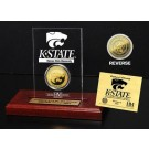 Kansas State Wildcats 24KT Gold Coin in an Etched Acrylic Desktop Display from The Highland Mint