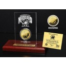 Maryland Terrapins 24KT Gold Coin in an Etched Acrylic Desktop Display from The Highland Mint