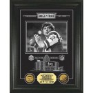 "Joe Namath Hall of Fame Archival Etched Glass Framed 6"" x 9"" Photograph and Medallion Set from The Highland Mint"