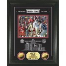 """Jerry Rice HOF Induction Etched Glass Framed 8"""" x 10"""" Photograph and Medallion Set from The Highland Mint"""