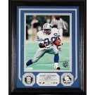 "Barry Sanders Hall Of Fame Induction 8"" x 10"" Framed Photograph and Medallions Set from The Highland Mint"