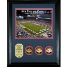 "New England Patriots 3 Time Super Bowl Champions 8"" x 10"" Framed Photograph and... by"
