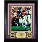 "Fran Tarkenton 8"" x 10"" Framed Photograph and Medallion Set from The Highland Mint"